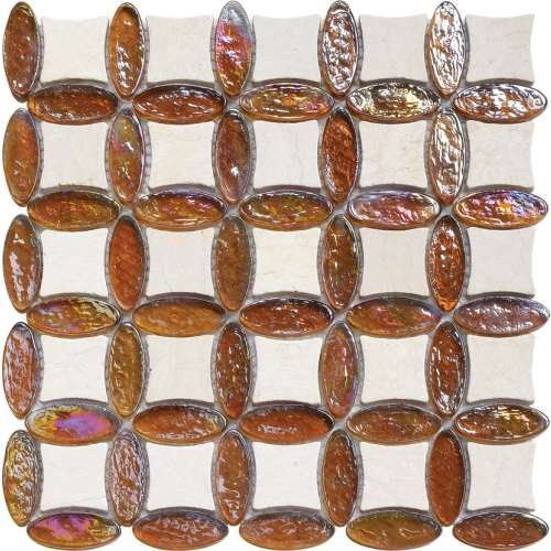 CA029 / Elipse+Marble Glass Mosaic Mystic Collection